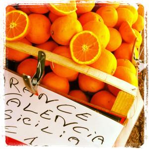 Orangen am Wochenmarkt