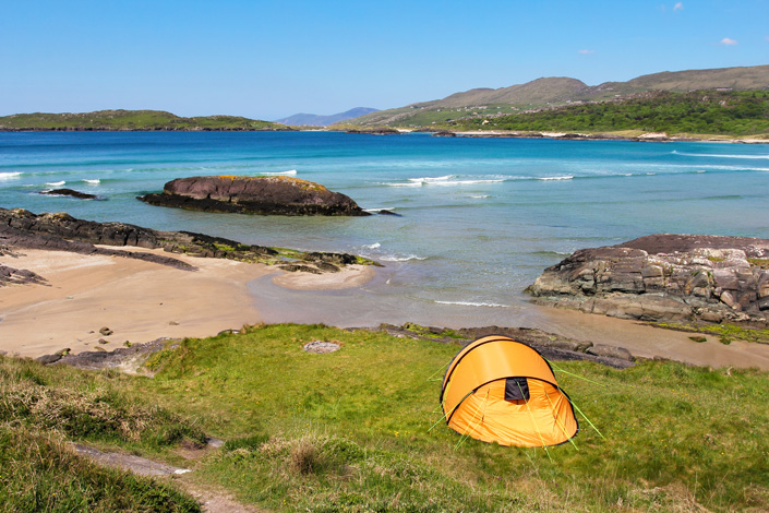 Camping Urlaub in Irland.