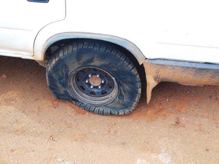 Reifenplatzer in Australien
