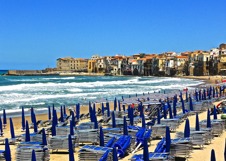 Cafalu Strand Sizilien