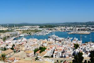 Blick auf Ibiza Stadt