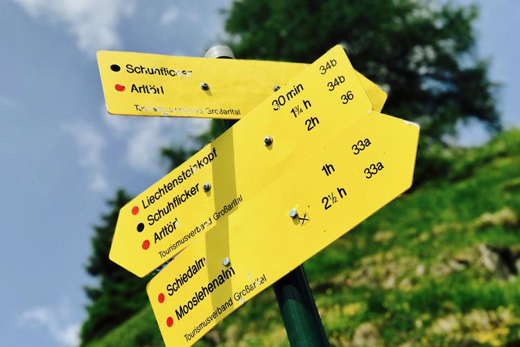 Wandern in Großarl: Die Aualm am Fuße des Schuhflickers
